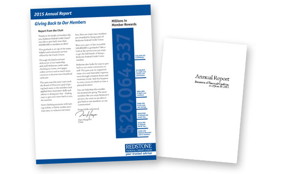 Redstone Federal Credit Union Annual Report Case Study