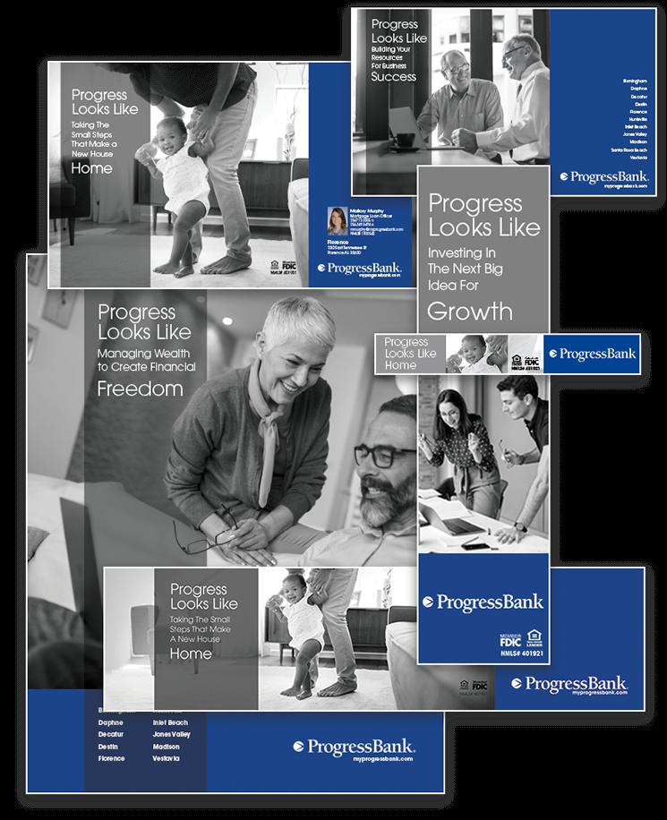 Progress Bank Print Digital Ads